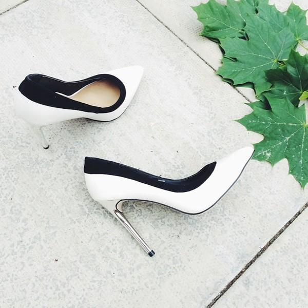 shoes white feminine silver