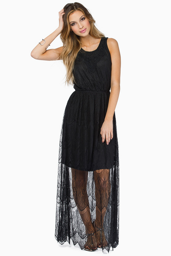 Christine Maxi Lace Dress - Tobi