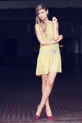 pop culture afternoon yellow dress dress