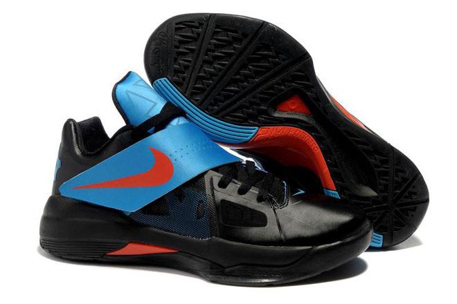 Zoom KD IV (4) Black/Team Orange/Photo Blue Nike Men's Size Shoes
