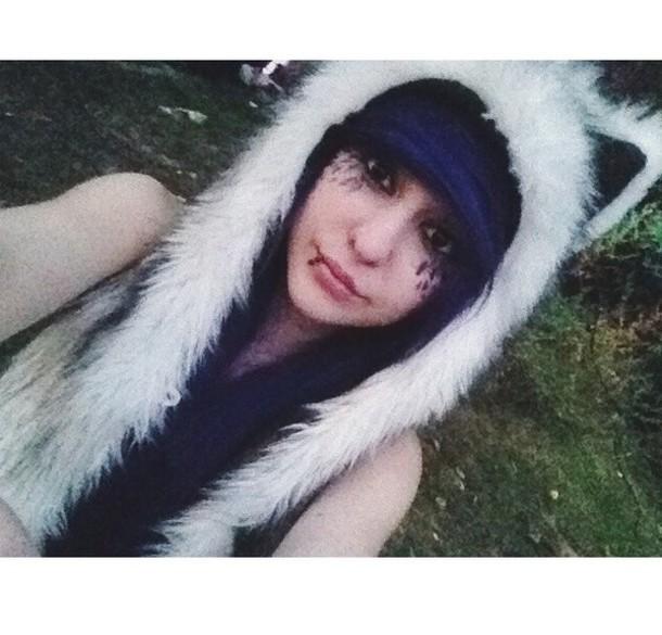 hat fluffy ears hat