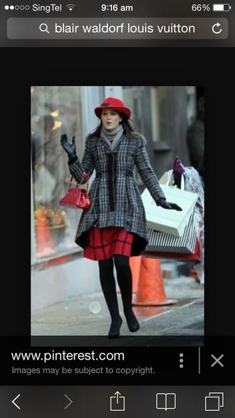 coat gossip girl blair bag gloves leggings