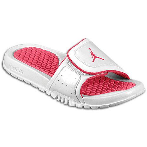 Jordan Hydro II - Girls' Grade School - Casual - Shoes - White/Pink