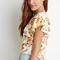 Floral flutter sleeve blouse | forever 21 canada