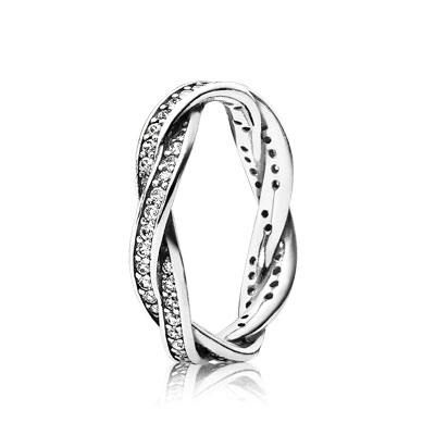 Braided Pavé Ring - 190892CZ - Rings | PANDORA