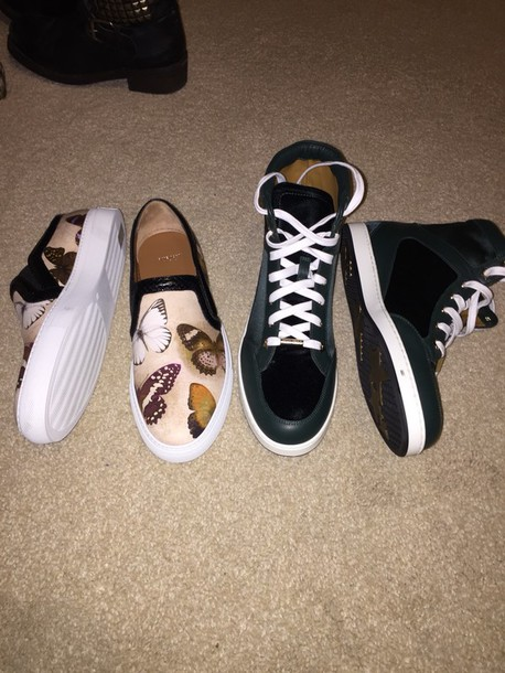 shoes girls sneakers givenchy jimmy choo green butterfly leather