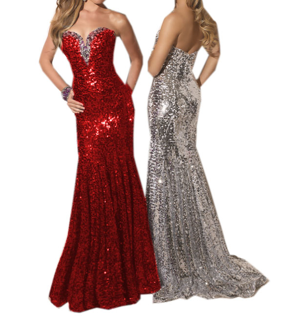 Sexy Shinning Sequins Prom Party Gown Evening Dress | eBay