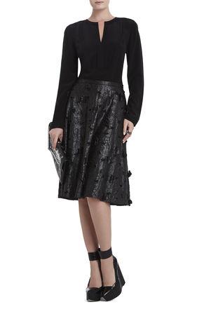 Elsa Flower Cutout A-Line Skirt | BCBG
