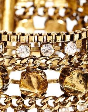 Nali | Nali – Auffälliges, goldenes Stachelarmband bei ASOS