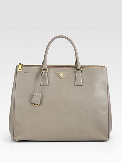 Prada - Large Saffiano Top-Handle Bag - Saks.com