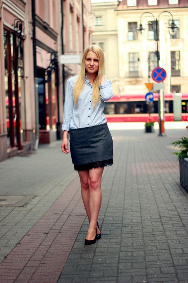 je suis monika skirt shirt shoes