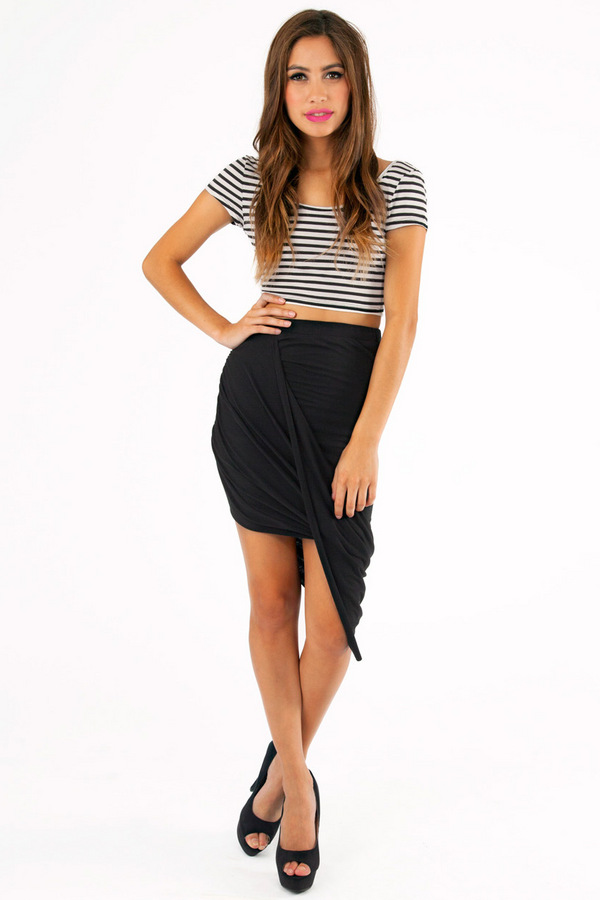 Twisted Max Skirt - TOBI