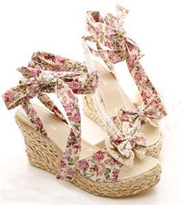 Bohemian Style Women Shoes Strappy Espadrilles Platform Wedge heeled Sandals   eBay