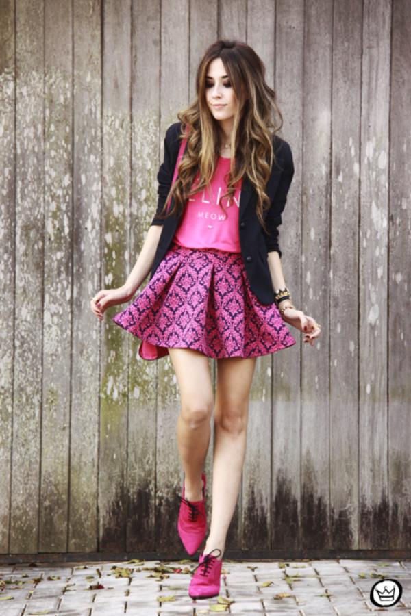 fashion coolture jacket t-shirt skirt bag jewels shoes