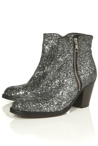giuseppe zanotti boots glitter silver shoes mid heel boots