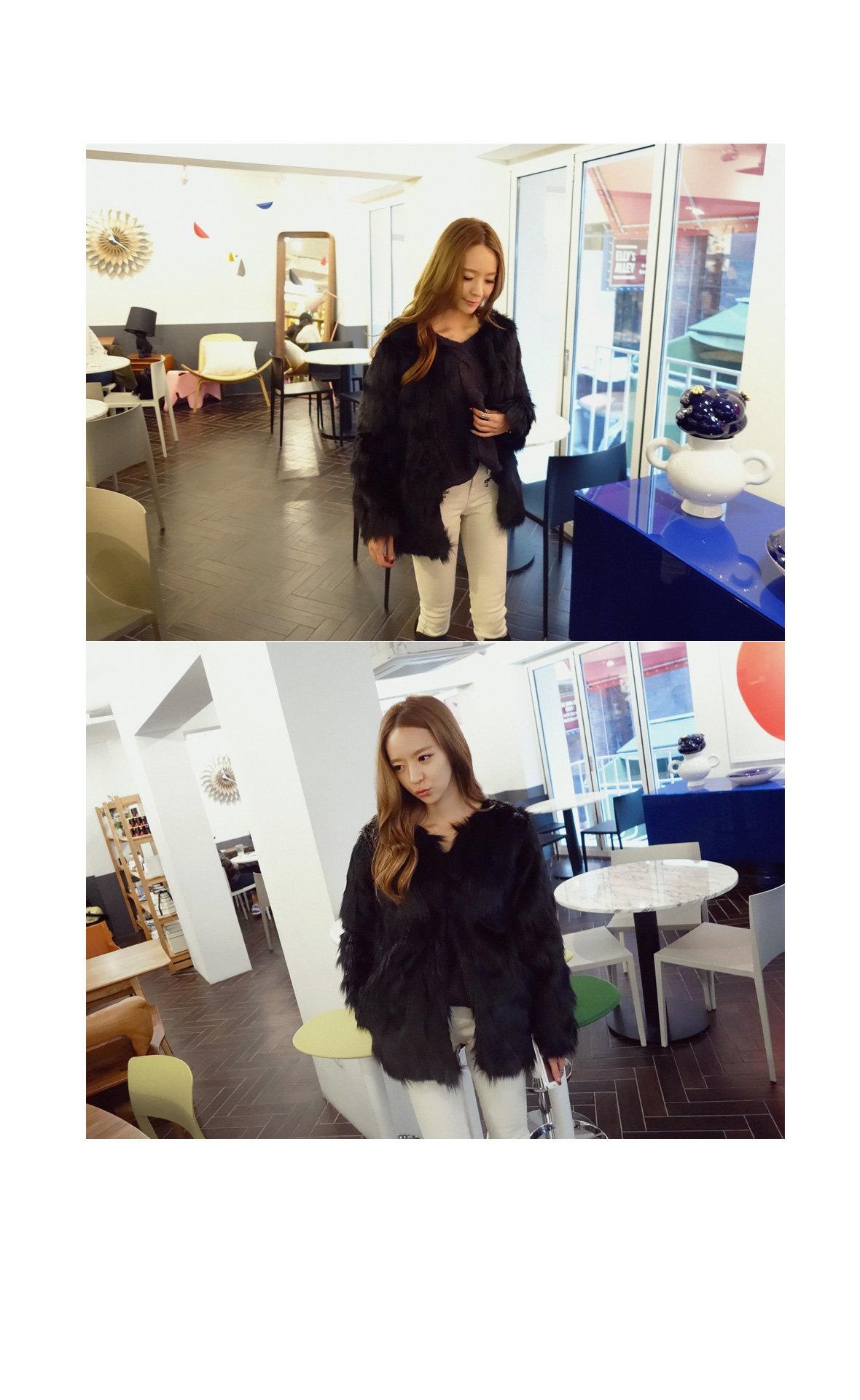 Faux-Fur Hook Jacket - REDOPIN | YESSTYLE