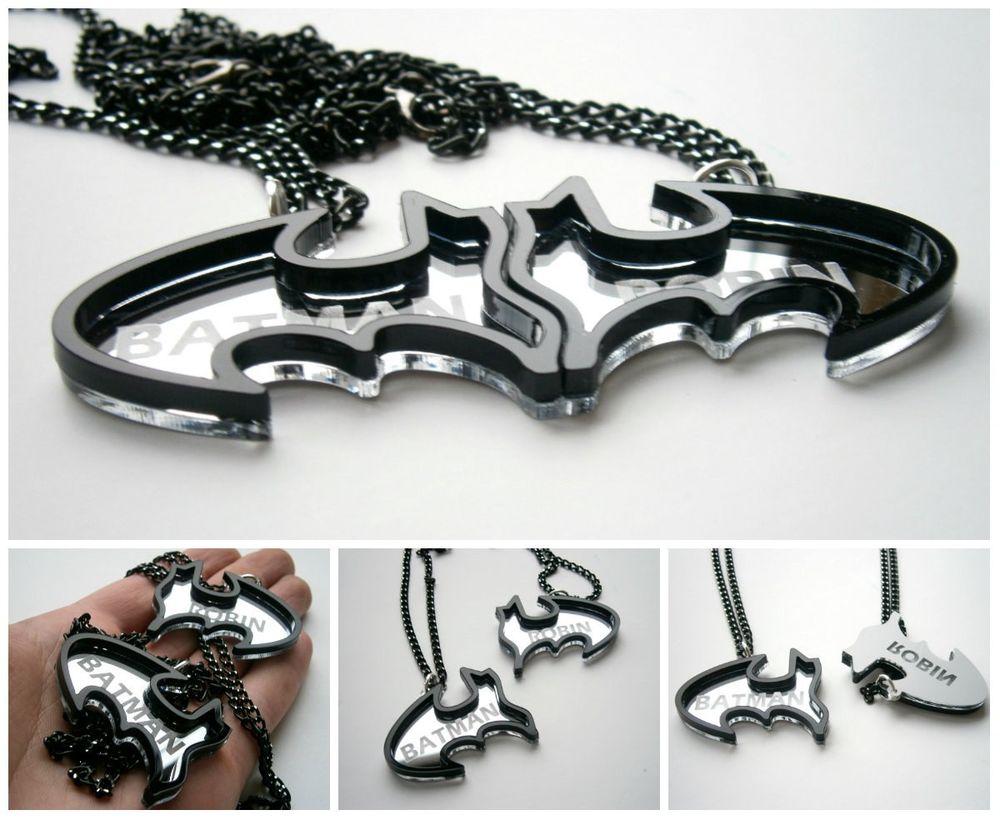 Batman and Robin Best Friends Necklaces - Friendship Necklaces | eBay
