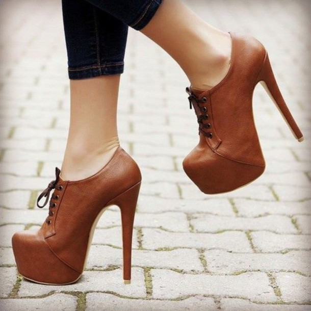 shoes heel oxfords