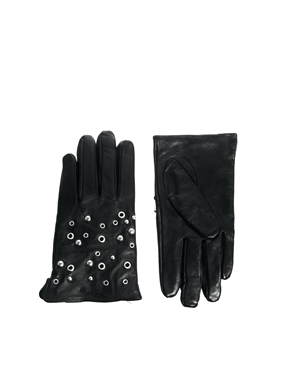 Selected | Selected Stud Gloves at ASOS