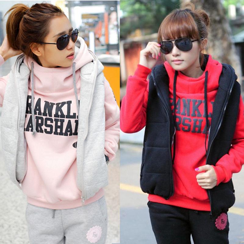 3 Pcs Set Fashion Hoodies Thickening Leisure Sports Hoodie Size M L XL | eBay