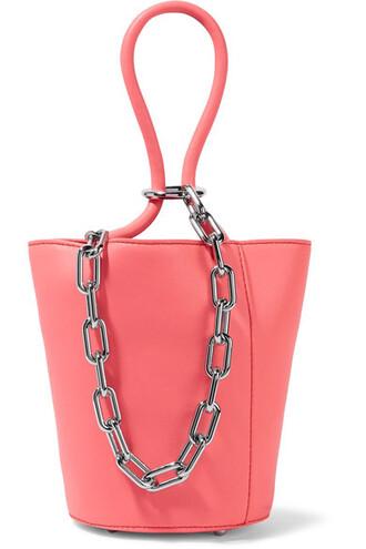 mini embellished leather pink bag