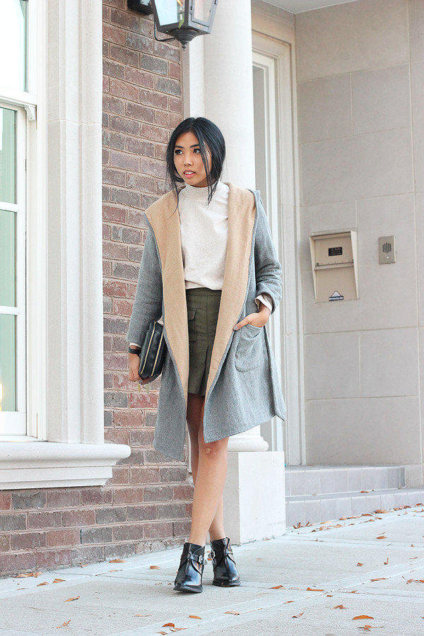 fashion of a novice t-shirt skirt coat shoes