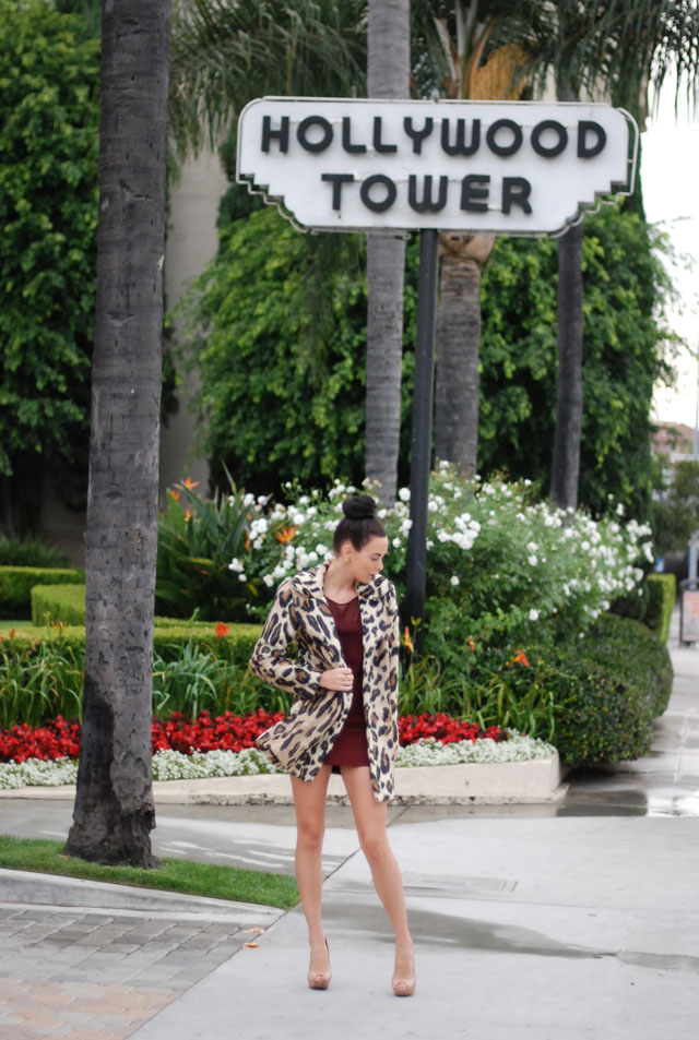 Tall Glass of Bordeaux ~ The Burgundy / Oxblood Trend and Leopard Coat | Fashion Addict