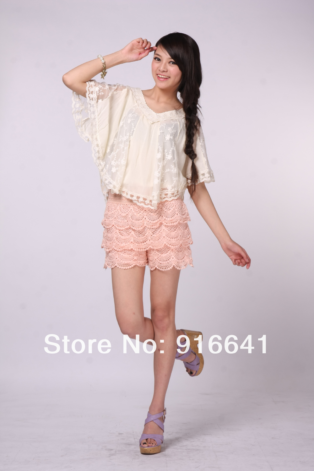 High Qaulity  Womens Sweet New Fashion Lace Tiered Short Skirt Under Safety Pants Shorts Pink Blue-in Shorts from Apparel & Accessories on Aliexpress.com