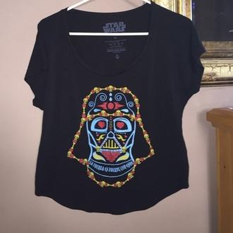 t-shirt top star wars darth vader