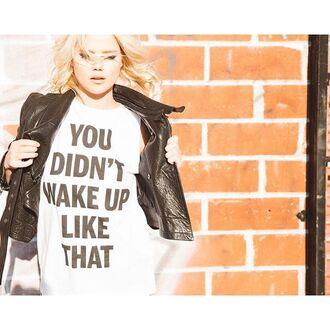top clayton graphic tee white black sleeveless cute revolve clothing urban revolveme quote on it