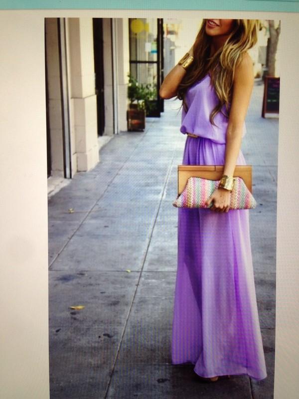 dress lavender dress dress maxi dress floor length dress summer dress