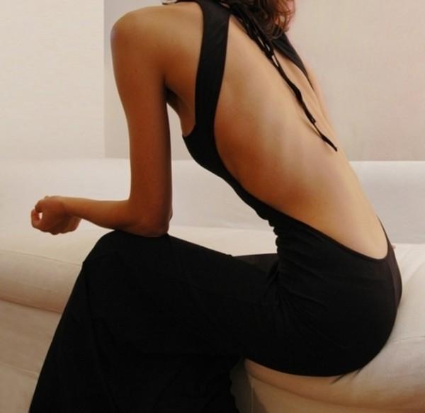 black dress dress open back backless dress backless prom dress gown long dress evening dress