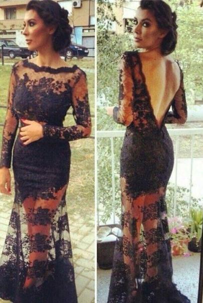 Vestido Long Sleeve Lace Gown  - LaFashioniStar's