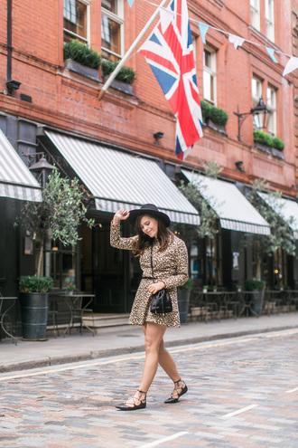 wish wish wish blogger dress leopard print strappy flats