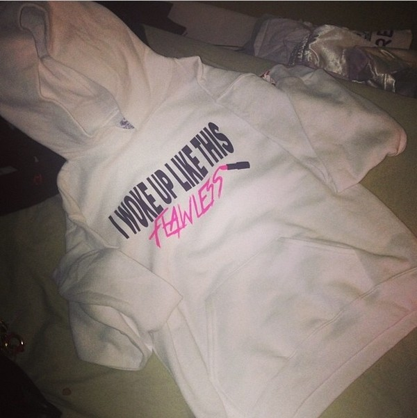 sweater flawless beyonce lyrics sweatshirt instagram pink lipstick