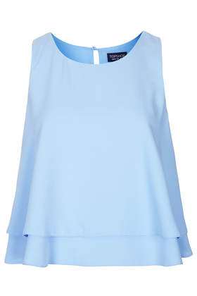 Double Layer Shell Top - Sleeveless Tops - Tops - Clothing- Topshop