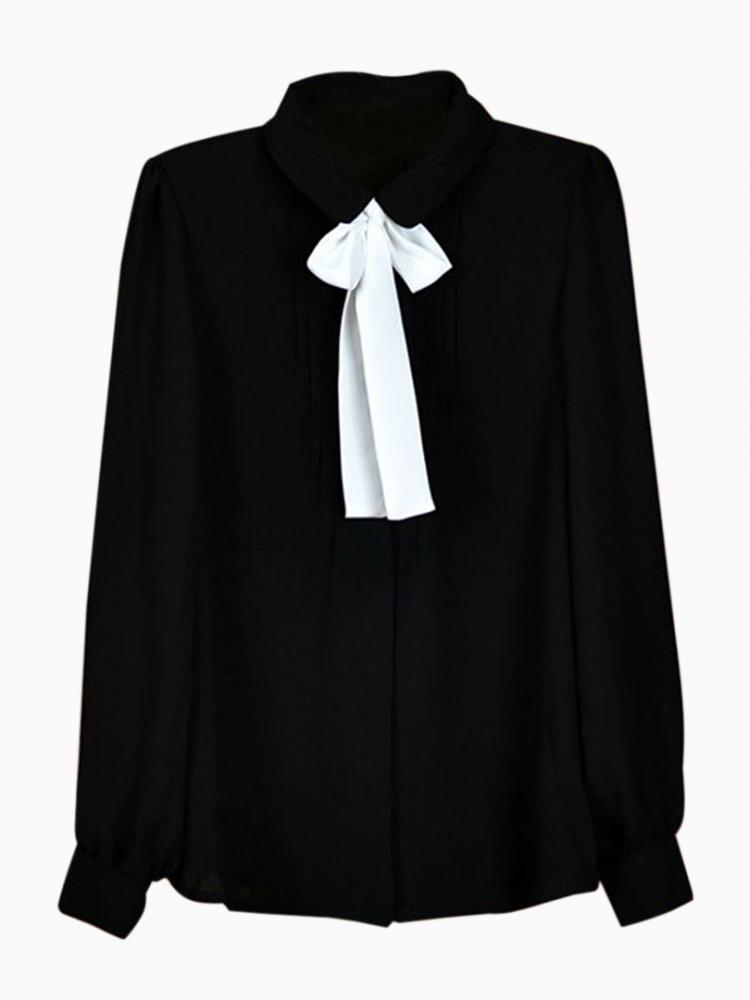 Chiffon Shirt With Pussy Bow | Choies