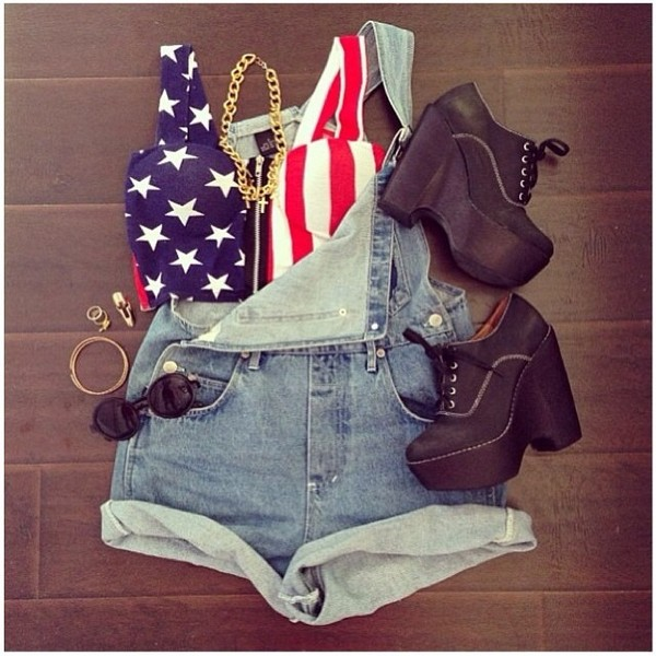 blouse jeans americana