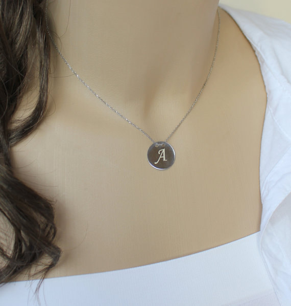 Initial Necklace Personalized Initial necklace by HelloSprings