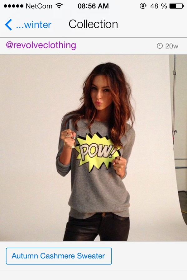 sweater grey yellow pow sweater pop art