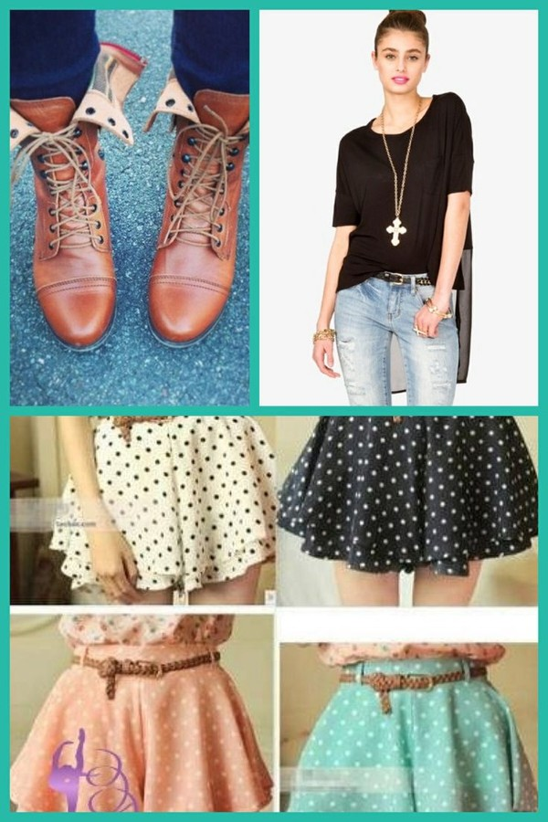 t-shirt skirt shoes