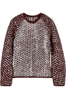 Alexander Wang Chunky-knit lacquered wool-blend sweater - 58% Off Now at THE OUTNET