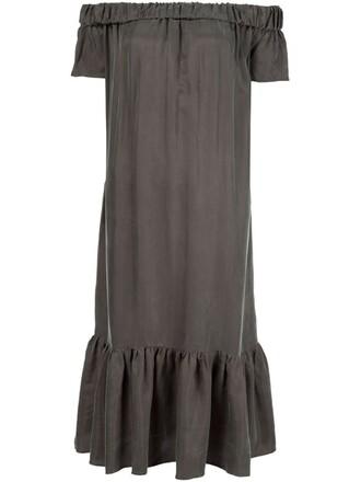 dress long dress long off the shoulder green