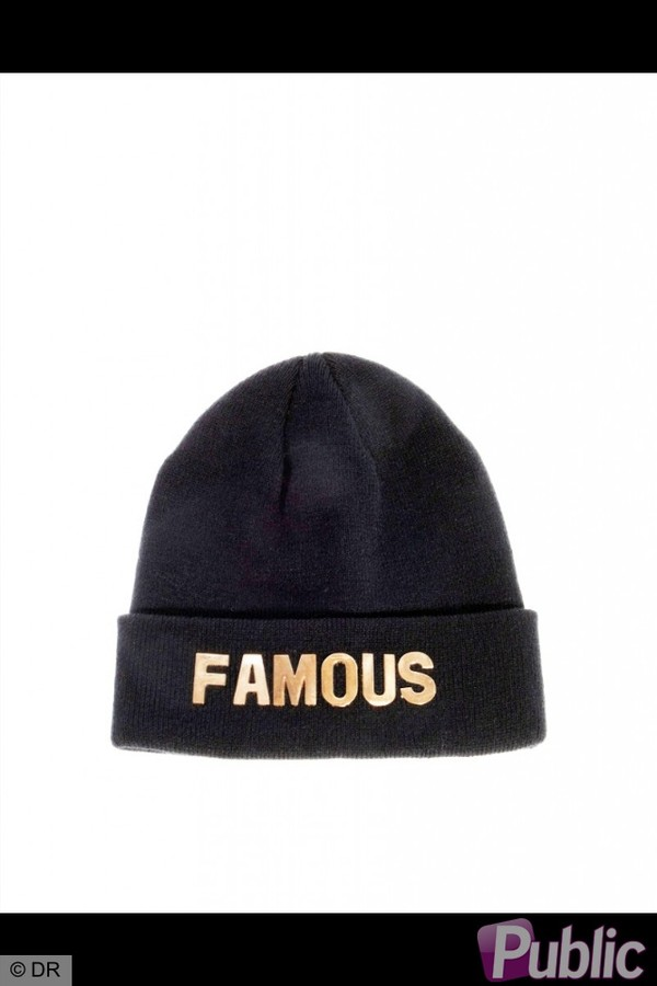 hat black quote on it gold winter outfits