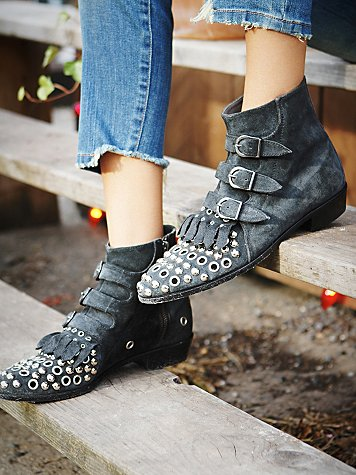 Modern Vice   Free People   Arianna Grommet Boot at Free People Clothing Boutique