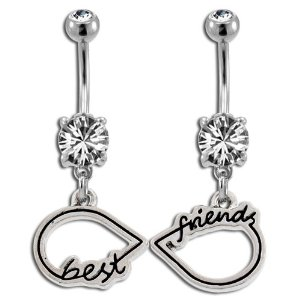 Amazon.com: Best Friends Infinity Symbol Belly Ring: Jewelry
