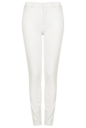 **Stretch Skinny Leather Trousers - Topshop