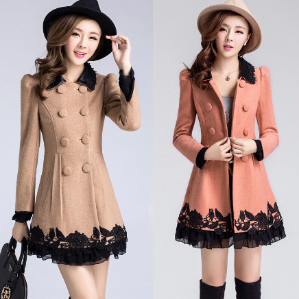 New 2013 Winter jackets women Korean chiffon lace fight Slim woolen coat jacket Maxi dresses down jacket coat-in Dresses from Apparel & Accessories on Aliexpress.com