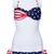 Sexy Twisted US Flag Printing Padded Strap Bikini Swimsuit | Pariscoming
