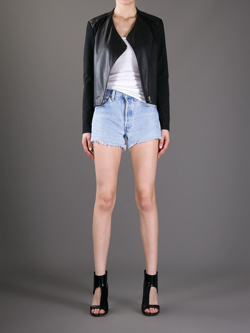 Levis A.n.g.e.l.o. Recycled Vintage Frayed Shorts - A.n.g.e.l.o Vintage - Farfetch.com